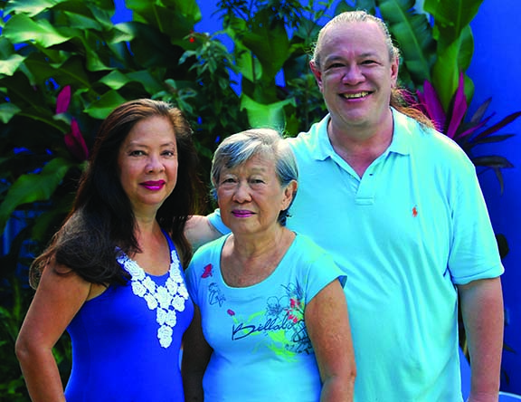 Elise Yap Tells the Food Story of her Chinese-Jamaican Family. Pictured with Mother Gloria and Brother Darryl